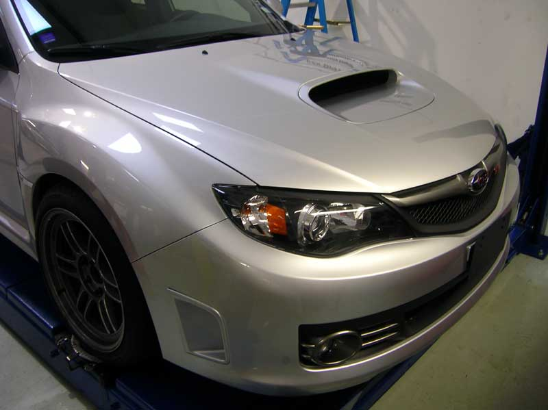 Subaru WRX STI protected with 3M Clear Bra Paint Protection Film