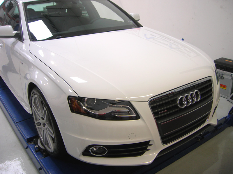 Audi A4 S-Line protected with 3M Clear Bra Paint Protection Film