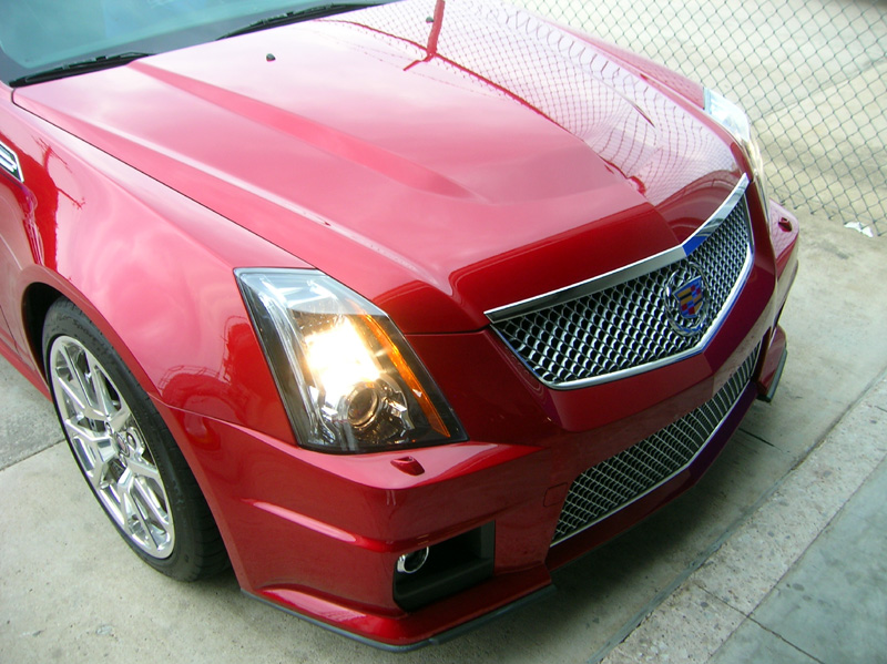 Cadillac CTS-V  protected with 3M Clear Bra Paint Protection Film