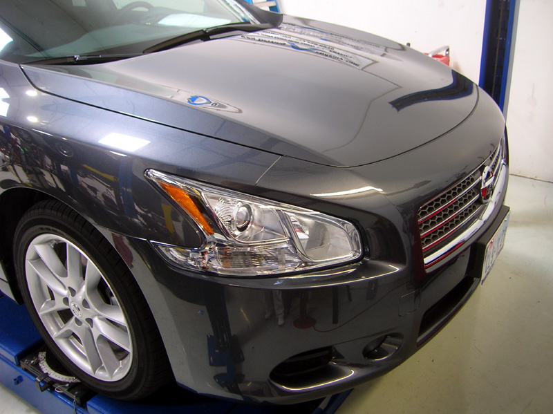 Nissan Maxima protected with 3M Clear Bra Paint Protection Film