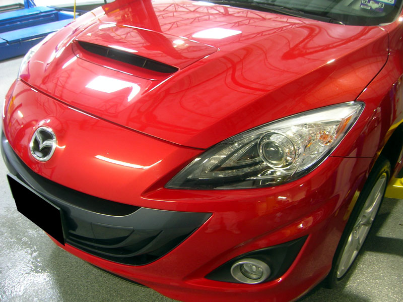 Mazdaspeed3 protected with 3M Clear Bra Paint Protection Film