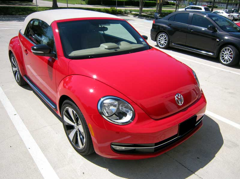 VW Beetle protected with 3M Clear Bra Paint Protection Film
