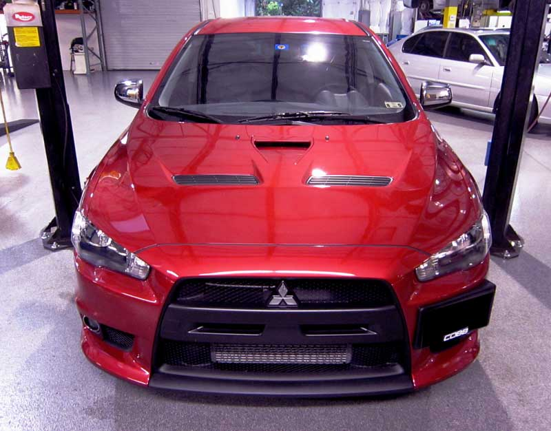 Mitsubishi EVO X protected with 3M Clear Bra Paint Protection Film