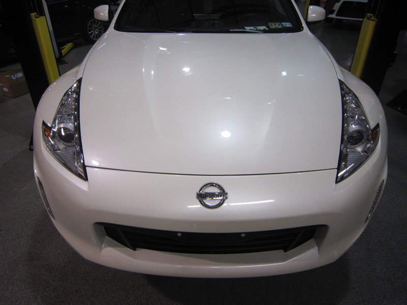 Nissan 370Z protected with 3M Pro Series Clear Bra Paint Protection Film