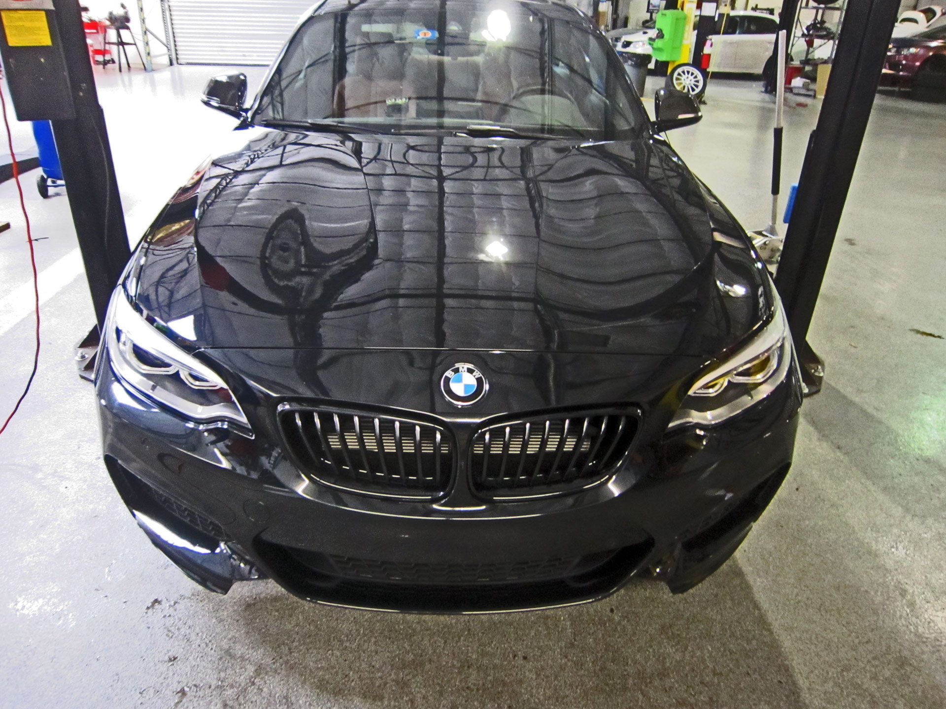 BMW M235i protected with 3M Clear Bra Paint Protection Film