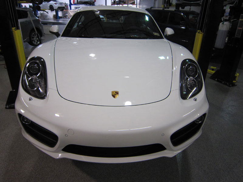 Porsche Cayman protected with 3M Pro Series Clear Bra Paint Protection Film