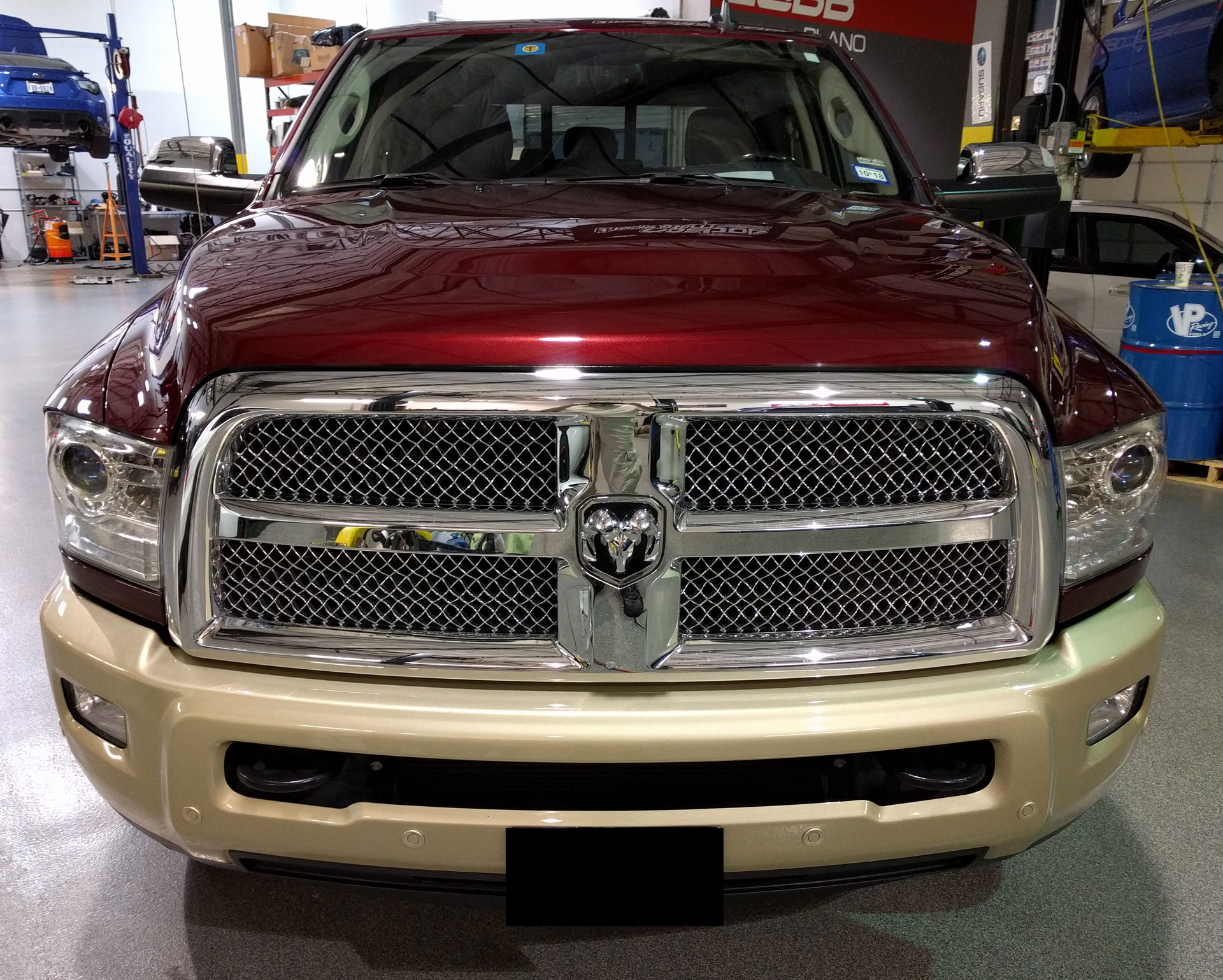 RAM 2500 Laramie Longhorn protected with 3M Pro Series Clear Bra Paint Protection Film