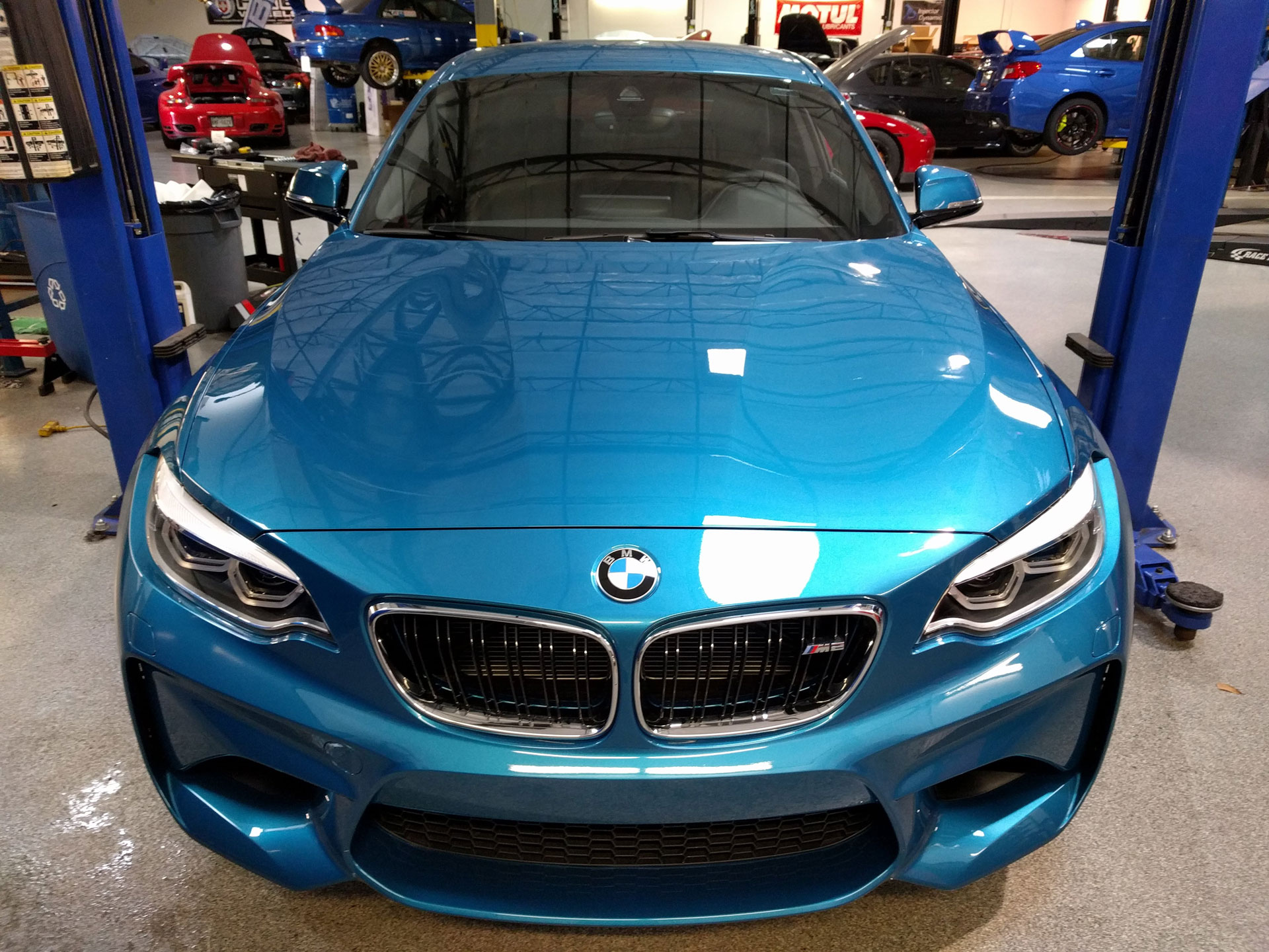 BMW M2 protected with 3M Pro Series Clear Bra Paint Protection Film