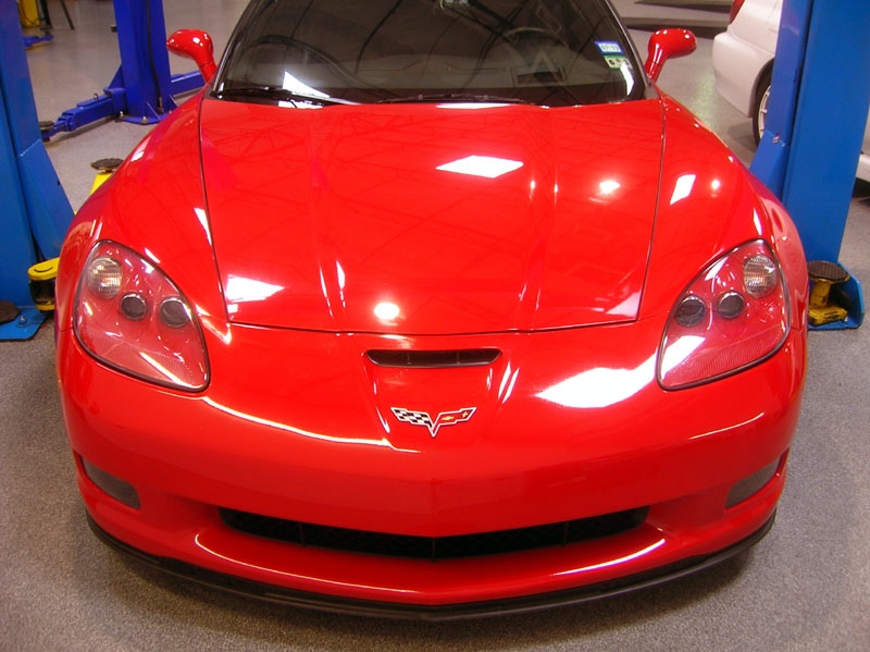 C6 Z06 Corvette protected with 3M Clear Bra Paint Protection Film