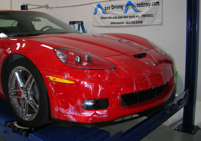 Chevrolet Corvette Z06 being protected with 3M Clear Bra Paint Protection Film
